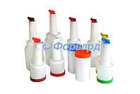 Бутылка пластиковая с гейзером FoREST 501001 1 л красная крышка