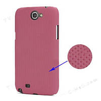 Чехол перфорированный на Samsung Galaxy Note 2 II N7100, розовый