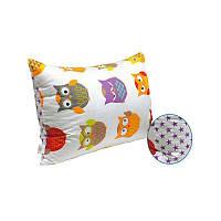 Подушка с силиконовыми шариками Совы Сатин Руно 50х70