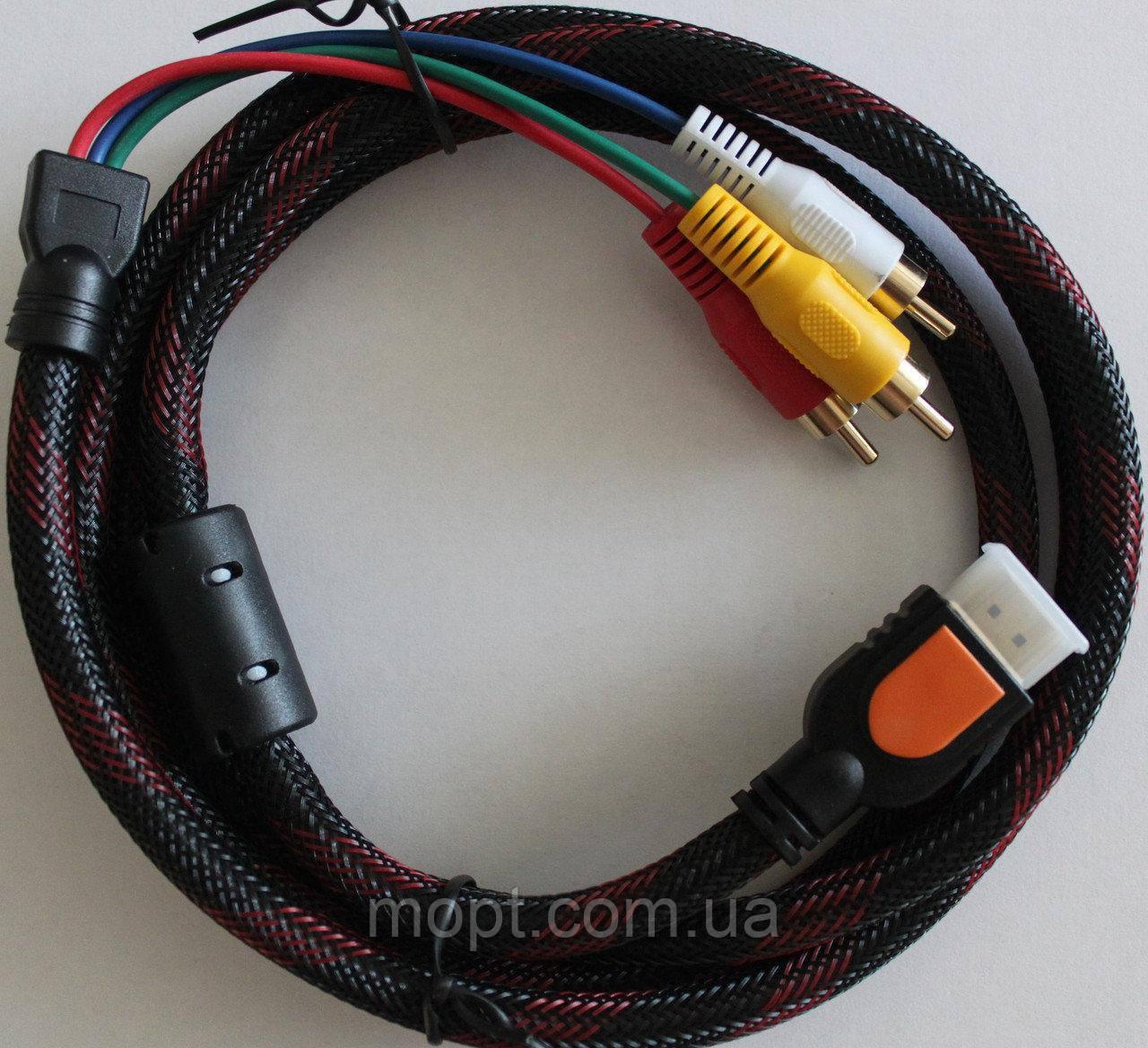 Кабель HDMI / 3 RCA 1.5м ТВ Аудио Видео Шнуры