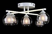 Люстра на 5 плафонов L05611/4+1 LED (WHITE)