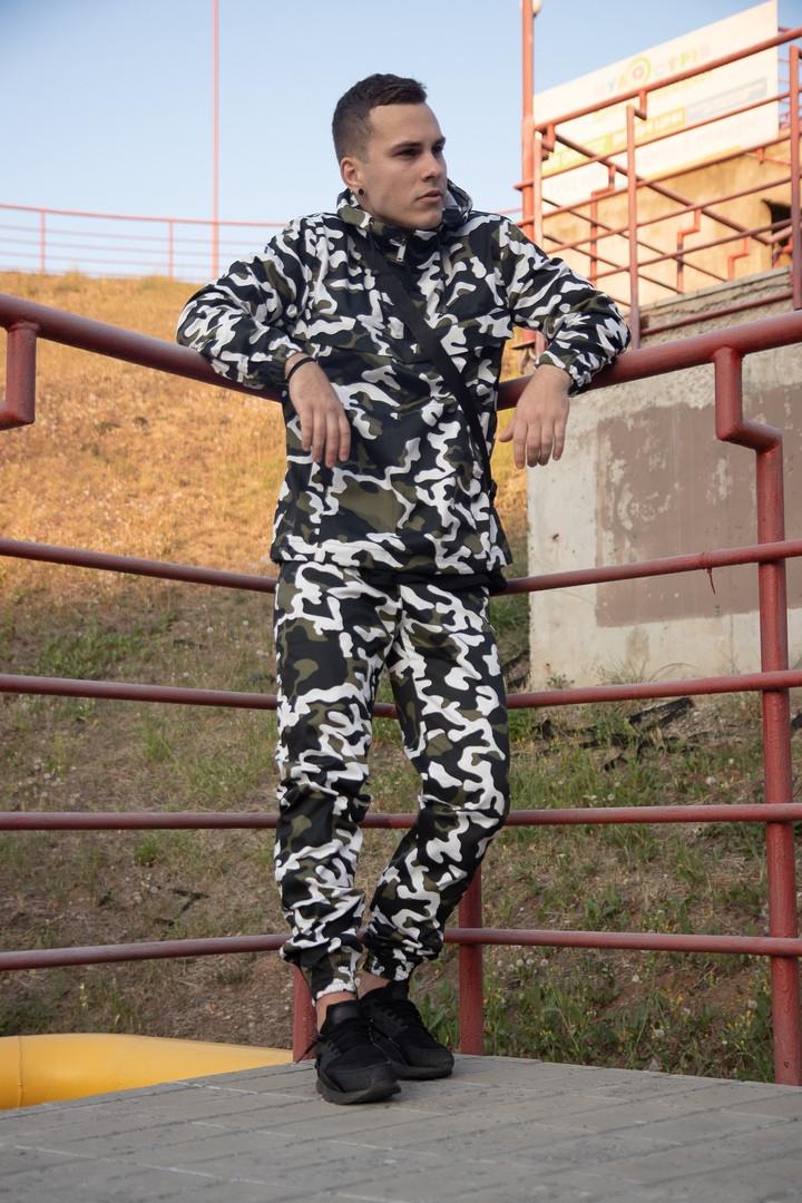 Мужской костюм анорак + штаны Барсетка в подарок ДРО