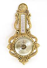 Винтажный английский барометр с термометром, COMITTI OF LONDON, под бронзу, Англия
