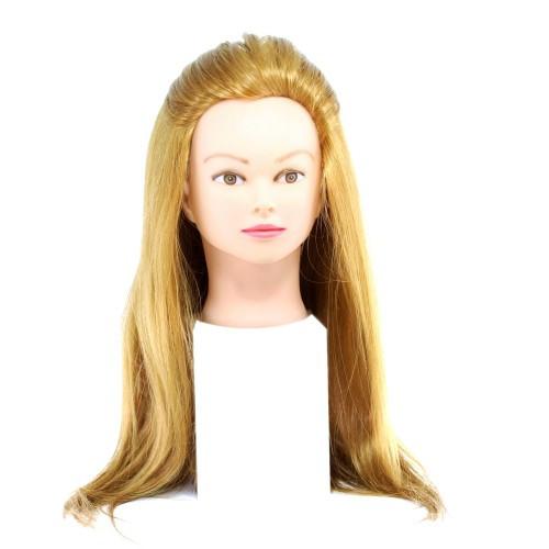 Голова для причесок с натуральными волосами 519-27