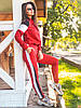 Спортивный костюм красного цвета кофта на молнии, осень 2020