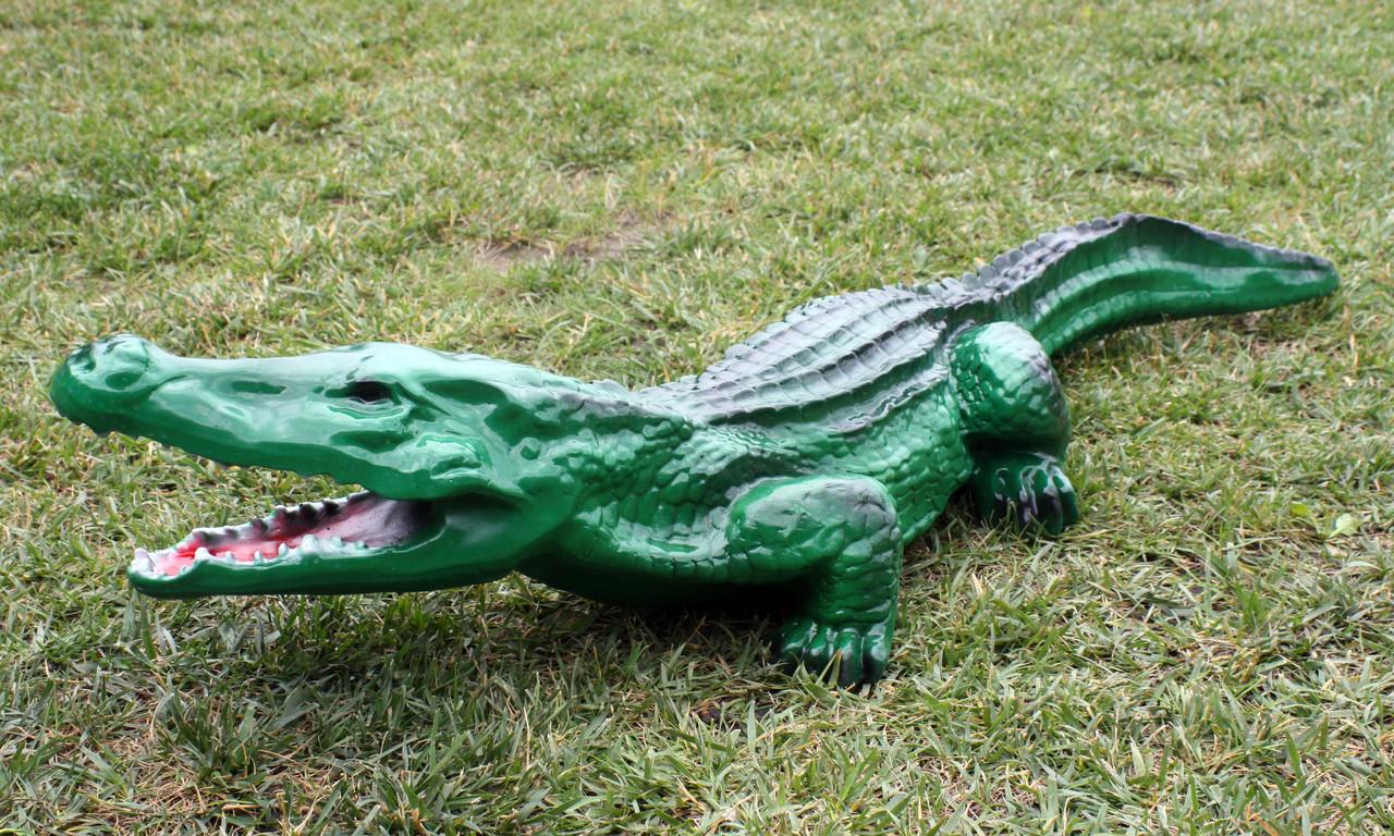 """Садовая фигура """"Крокодил"""" H-19см, L-100см"""