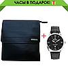 Кожаная мужская сумка Polo Videng Badge Чёрная, фото 10