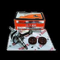Коленвал пила PARTNER 350-371 к-кт гайка маховика + подшипник + сальник ( NOKER )