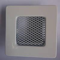 Решетка вентиляционная каминная 90х90 мм белая