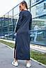 Женское длинное спортивное платье с разрезами внизу (3676-3655-3674-3675-3678 svt), фото 5