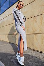 Женское длинное спортивное платье с разрезами внизу (3676-3655-3674-3675-3678 svt), фото 3