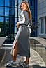 Женское длинное спортивное платье с разрезами внизу (3676-3655-3674-3675-3678 svt), фото 6