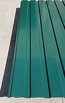 Профнастил  для забора, цвет:зеленый ПС-20, 0,45 мм; высота 1.5 метра ширина 1,16 м, фото 3