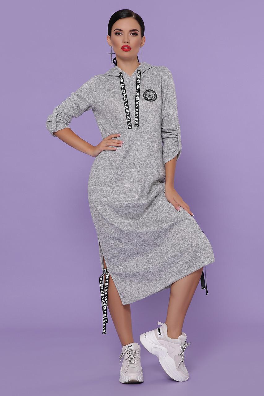Женское платье серое Далия д/р