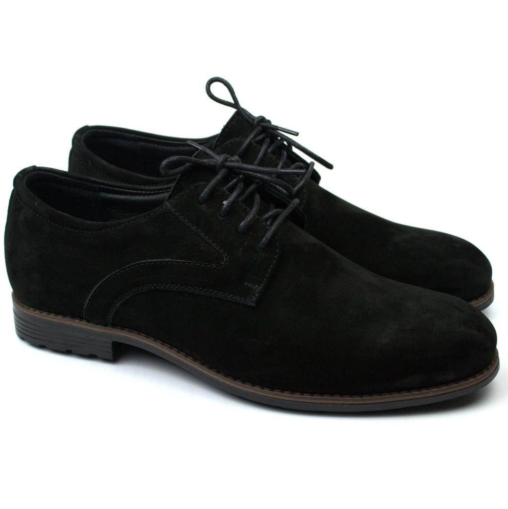 Мужские черные туфли дерби нубук Rosso Avangard Solder Black NUB Grey Line