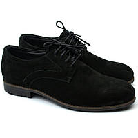 Мужские черные туфли дерби нубук Rosso Avangard Solder Black NUB Grey Line, фото 1