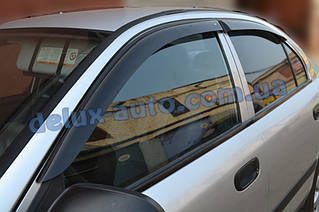 Ветровики Cobra Tuning на авто Mitsubishi Carizma Sd 1995-2004 Дефлекторы окон Кобра для Митсубиси Каризма