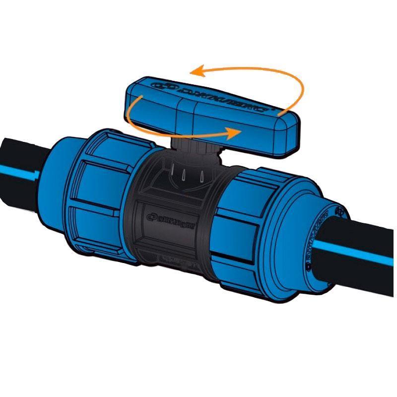 Кран шаровый STR 25 (для полиэтиленовой трубы)