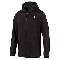 Толстовка спортивная мужская Puma N.R.G. Fullzip Jacket 516932 01 (черная, полиэстер, на молнии, логотип пума)