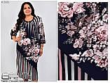 Трикотажное женское платье Размеры 54.56.58.60.62.64, фото 2