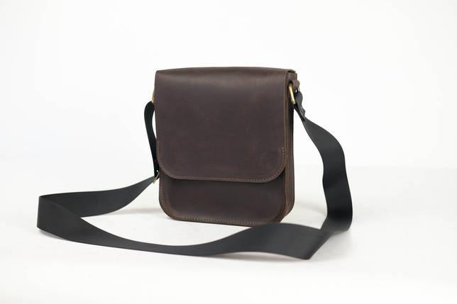 """Мужская сумка """"Модель №39"""" Винтажная кожа цвет Шоколад, фото 2"""