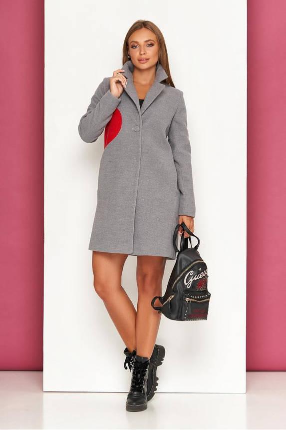 Пальто кашемировое женское демисезонное серое, фото 2