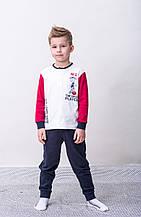Детская пижама для мальчика BRUMS Италия 133BFML002 красный, синий, белый