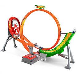 Игровой набор Трек Хот Вилс Безумный Форсаж и 5 машинок Hot Wheels Super Loop Raceway Y3105
