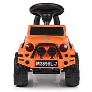 Каталка-толокар BAMBI M 3898L-7 оранжевый музыка, сиденье эко-кожа, фото 3