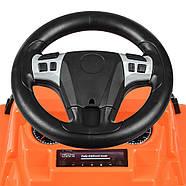 Каталка-толокар BAMBI M 3898L-7 оранжевый музыка, сиденье эко-кожа, фото 2