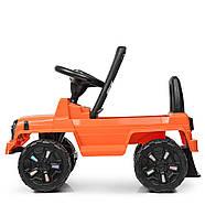 Каталка-толокар BAMBI M 3898L-7 оранжевый музыка, сиденье эко-кожа, фото 4