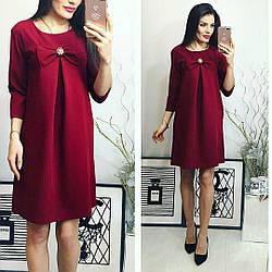 Платье, модель 774 марсала бордо