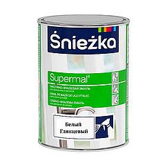 Масляно-фталевая эмаль Sniezka Supermal 800мл (Белый глянцевый)
