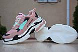 Женские кроссовки Balenciaga Triple S пудра 37-41рр. Живое фото. Реплика, фото 5