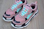 Женские кроссовки Balenciaga Triple S пудра 37-41рр. Живое фото. Реплика, фото 7