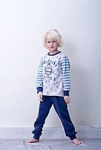 Утепление Детская пижама для мальчика на байке BRUMS Италия 163BFML003 Белый