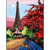 "Картина раскраска по номерам ""Эйфелева башня"" 30Х40см Babylon VK067"