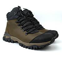 Зимові спортивні шкіряні коричневі черевики з протектором взуття чоловіче Rosso Avangard Lomer Irio Brown