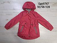 Ветровка на флисе для девочек оптом, Glo-story, 92/98-128 см, арт. GPY-9747, фото 1