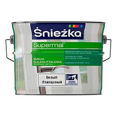 Масляно-фталевая эмаль Sniezka Supermal 2,5л (Белый глянцевый)