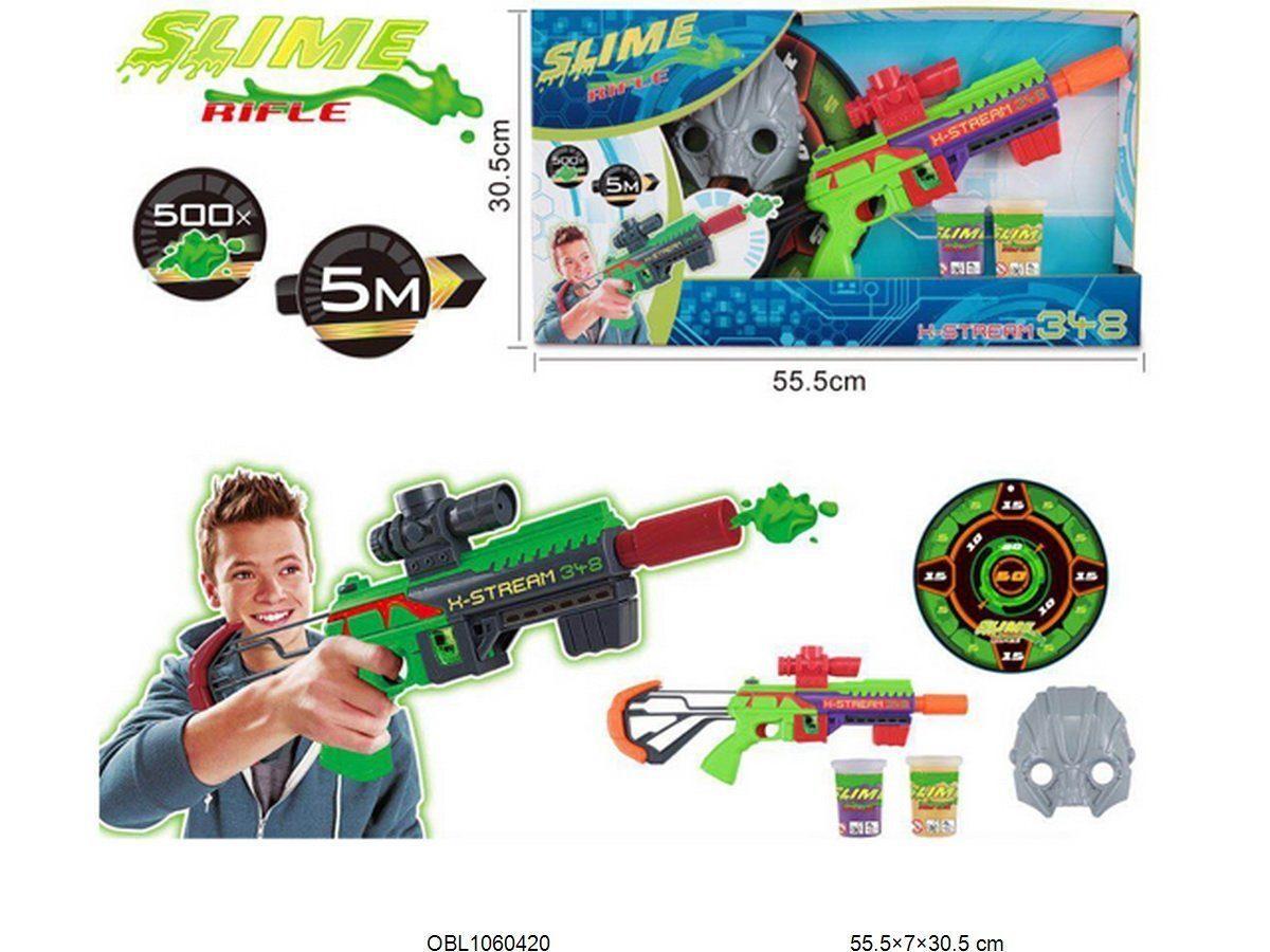 Бластер стреляющий слаймом Slime CH348 с маской оптом (CH-348)