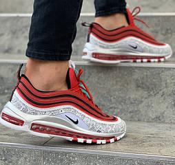 Мужские кроссовки Nike Air Max 97 x Jayson Tatum White Red 40-45рр. Живое фото (Реплика ААА+)