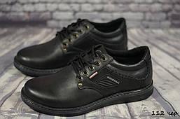 Мужские кожаные туфли Kristan  (Реплика) (Код: 112 чер   ) ►Размеры [40,41,42,43,44,45]
