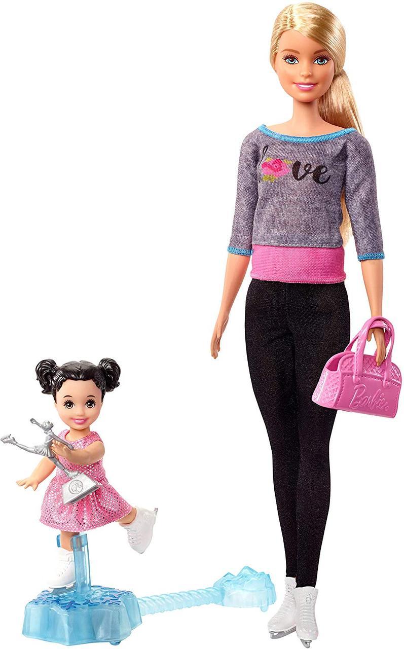 Кукла Барби Тренер по фигурному катанию Barbie Ice Skating Coach Doll & Playset, Blonde Mattel