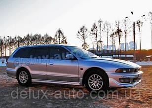 Ветровики Cobra Tuning на авто Mitsubishi Galant VIII Wagon 1996-2003 Дефлекторы окон Кобра Legnum 1996-2002