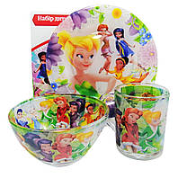 "Набор посуды для детей «Клуб Винкс""(Феи) 3-х предметный. (Тарелка 195 мм, пиала 320 мл, чашка 250 мл)."
