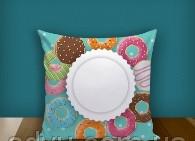 "Печать на подушке ""Donuts"""