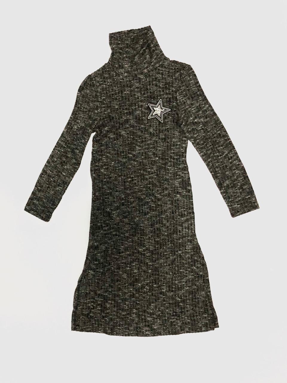 платье длинное с воротом 1967 Bulicca серый размер 122 140 Bigl Ua