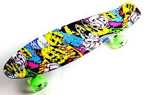 "Penny Board ""Fish"" Joker. Светящиеся колеса. (PFO021)"