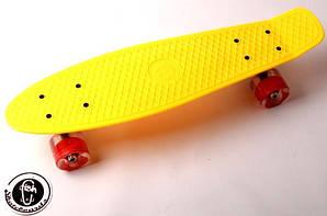 """Penny Board """"Fish"""" Желтый цвет. Светящиеся колеса. (1055004214)"""